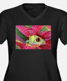 Ruby the Red Eyed Tree Frog Plus Size T-Shirt