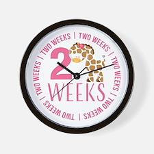 Adorable Giraffe 2 Weeks Old Wall Clock