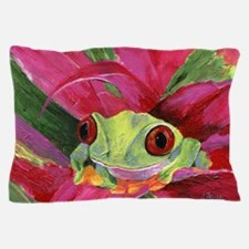 Ruby the Red Eyed Tree Frog Pillow Case