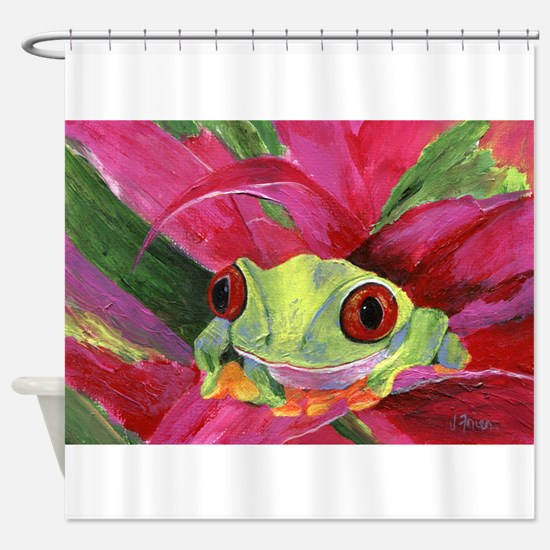 Ruby the Red Eyed Tree Frog Shower Curtain