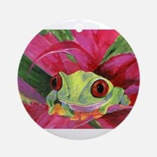 Ruby the Red Eyed Tree Frog Ornament (Round)