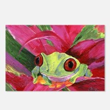 Ruby the Red Eyed Tree Frog Postcards (Package of