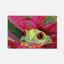 Ruby Tree Frog Rectangle Magnet