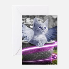 angel cat Greeting Cards