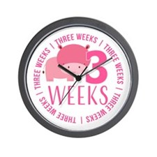 Cute Hippo 3 Weeks Old Wall Clock