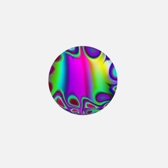 Rainbow Fractal Mini Button (100 pack)