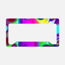 Rainbow Fractal License Plate Holder