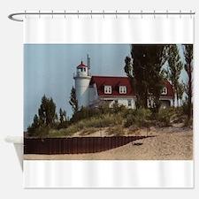 Pointe Betsie Lighthouse Shower Curtain