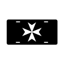 Knights Hospitaller Cross Aluminum License Plate