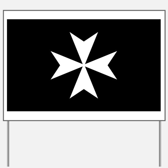 Knights Hospitaller Cross Yard Sign