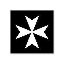 """Knights Hospitaller Cross Square Sticker 3"""" x 3"""""""