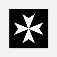 "Knights Hospitaller Cross Square Sticker 3"" x 3"""