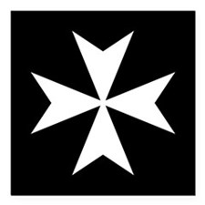 "Knights Hospitaller Cros Square Car Magnet 3"" x 3"""