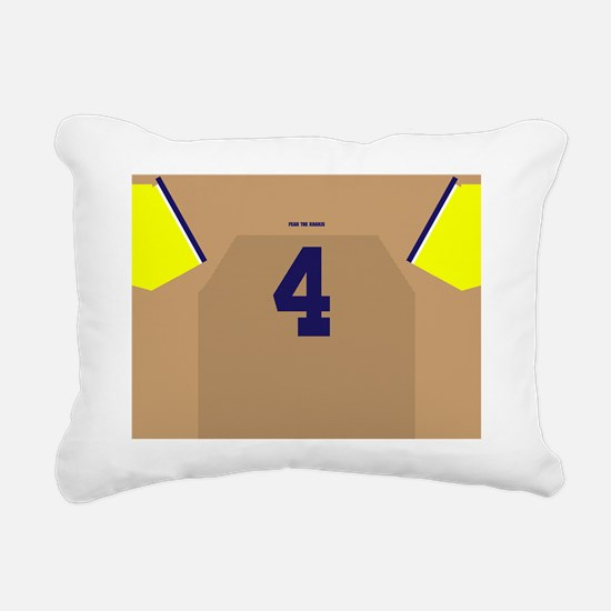 Cool Maize and blue Rectangular Canvas Pillow