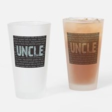 My Favorite People Call Me UNCLE Drinking Glass
