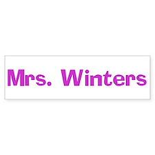 Mrs. Winters Bumper Bumper Sticker