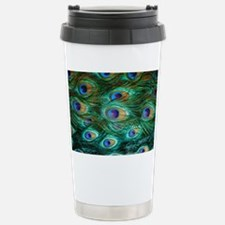 Peacock Feathers Stainless Steel Travel Mug