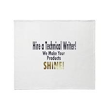 Unique Technical writer Throw Blanket
