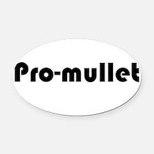 Pro-Mullet Oval Car Magnet