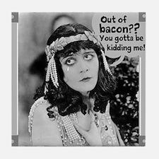 No Bacon, We Cry Tile Coaster