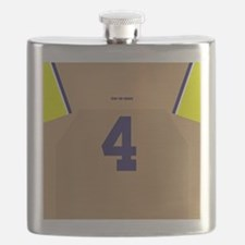 Funny Michigan wolverines Flask
