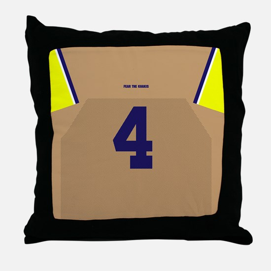 Funny Maize and blue Throw Pillow
