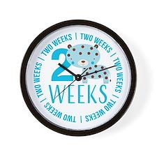 Blue Tiger 2 Weeks Old Wall Clock