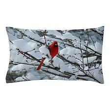 Snow Cardinal Pillow Case