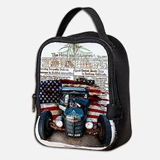 Hot Rod Invasion Neoprene Lunch Bag