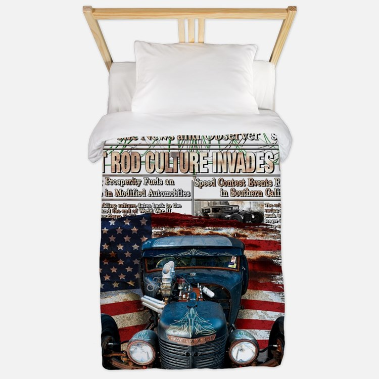 Hot Rod Invasion Twin Duvet