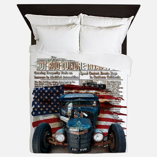 Hot Rod Invasion Queen Duvet