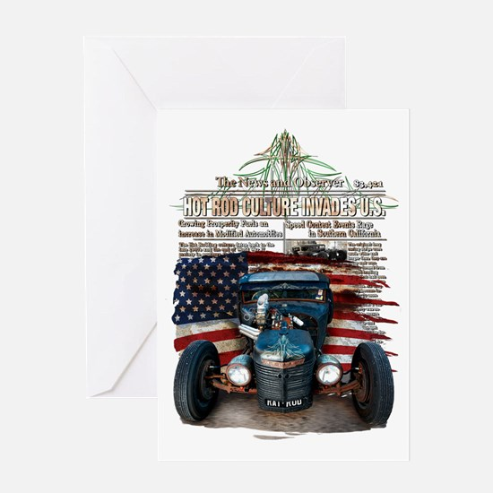 Hot Rod Invasion Greeting Cards