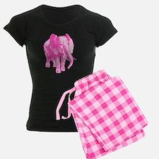 Pink Elephant Illustration Pajamas