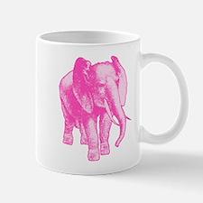 Pink Elephant Illustration Mug