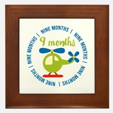 9 Months Helicopter Monthly Milestone Framed Tile