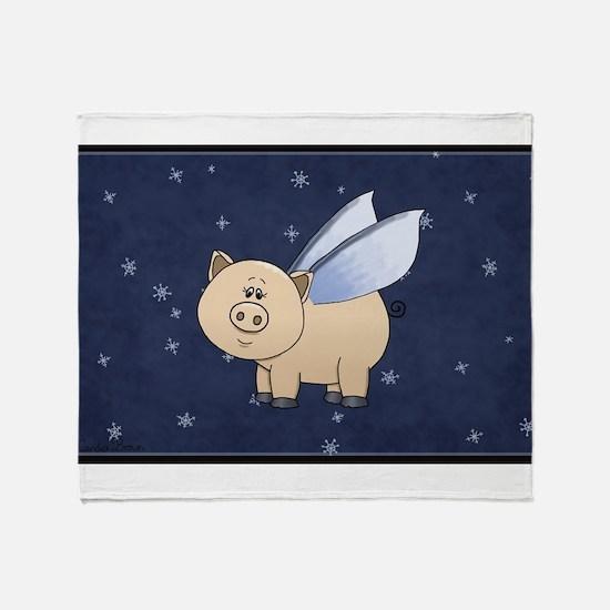 Funny Teacup pig Throw Blanket