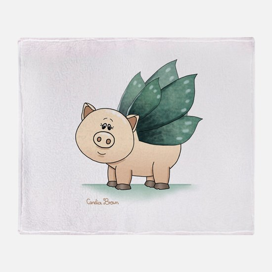 Unique Teacup pig Throw Blanket
