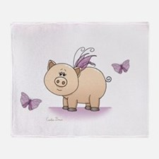 Funny Animal pig Throw Blanket