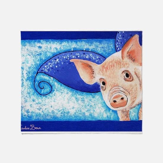 Teacup pig Throw Blanket