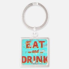 Unique Food and drink Square Keychain