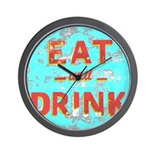 Cute Food and drink Wall Clock