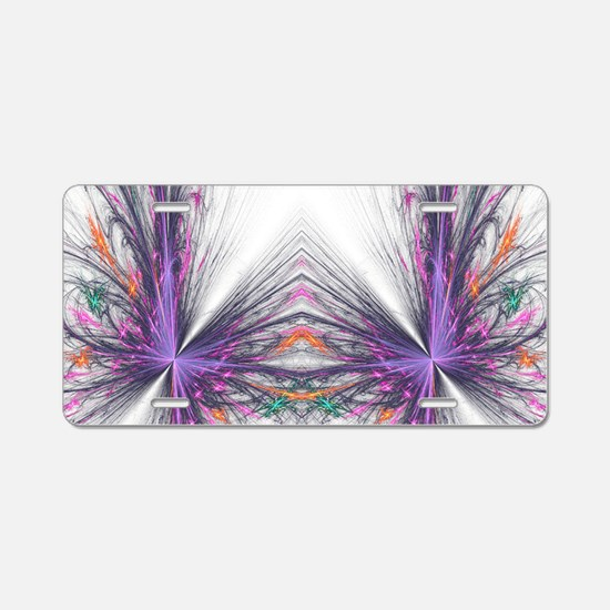 Abstarct Butterfly Aluminum License Plate