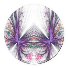 Abstarct Butterfly Round Car Magnet