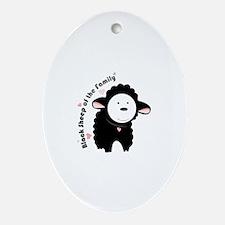 Black Sheep Ornament (Oval)