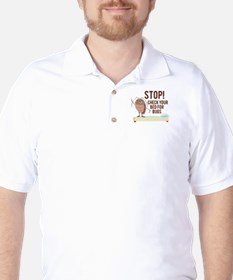Stop! Check For Bed Bugs Golf Shirt