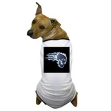 Blue Flaming Skull Dog T-Shirt