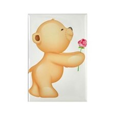Cutest Teddy w/ rose Rectangle Magnet