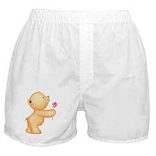 Cutest Teddy w/ rose Boxer Shorts