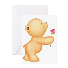 Cutest Teddy w/ rose Greeting Card