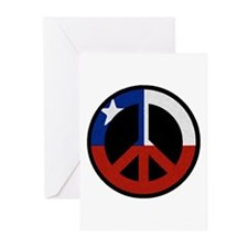 Chilean Flag Peace Greeting Cards (Pk of 10)